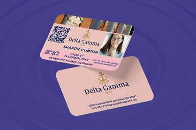 £9.99 • Buy Delta Gamma Membership Card With QR Code-Personalized ID Card
