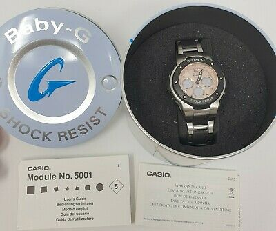 £84.99 • Buy Casio Rose Gold MSG300C Wristwatch Baby G Shock Resistant Watch Needs A Battery