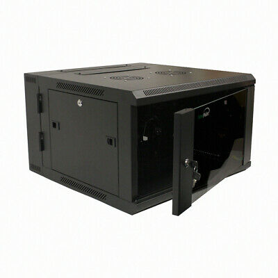 AU283.65 • Buy 6U Wall Mount Double Section Hinged Swing Out Server Network Rack Cabinet Lock