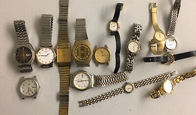 $ CDN26.01 • Buy Seiko Watch Lot Vintage Men's Women's Mechanical Quartz 14 Watches