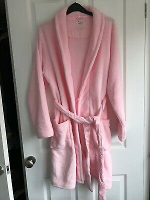 AU12.48 • Buy Pink Soft Fleece Dressing Gown/robe - Size 12-14