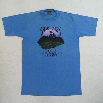 $ CDN25.49 • Buy Vintage T-shirt Sheep Creek Lodge Alaska Highway Tourist Size Medium 70s 80s