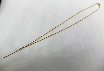 AU95 • Buy 9ct Yellow Gold Fine Curb Link Necklace With Chain Dangle 375 9k
