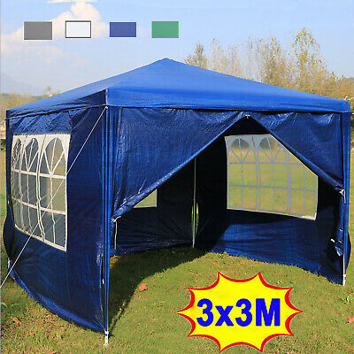 £83.19 • Buy 3 X 3 M Gazebo Waterproof Outdoor Garden Marquee Canopy Party Tent With Sides