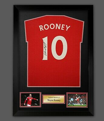 £127.49 • Buy Wayne Rooney Hand Signed Red T-Shirt In A Frame Presentation
