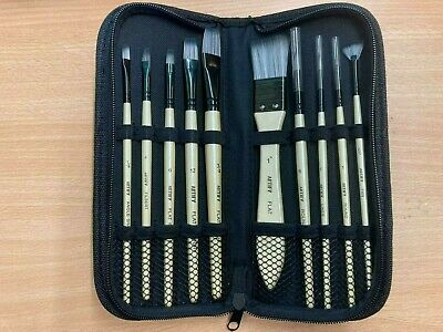 £7.99 • Buy Artify 10 Pcs Paint Brush Set With Case Synthetic Hair For Art / Painting (NEW)