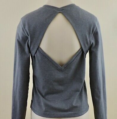 $ CDN35.90 • Buy LULULEMON BACK UP Sz 4/6 Gray Heather Diamond Back Cut Out Long Sleeve Top EXC