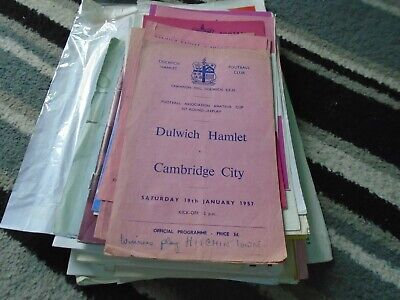 £1.99 • Buy Dulwich Hamlet V Cambridge City 1956-7 Fa  Amateur Cup 1st Round Replay