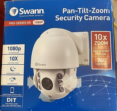 AU273.84 • Buy Swann 8-Channel 1080p DVR With 6 Camera And PTZ 10x Zoom Security Camera