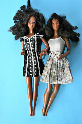 $ CDN24.17 • Buy Two Vintage Barbie African American Mattel 1966 With Barbie Doll Case