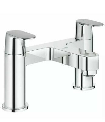 Grohe Eurosmart Cosmopolitan Two Handles Bath Shower Tap Deck Mounted Two Hole • 99.99£