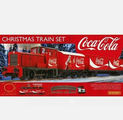 £69.95 • Buy R1233M Hornby 00 Gauge The Coca Cola Christmas Starter Train Set Brand New Boxed