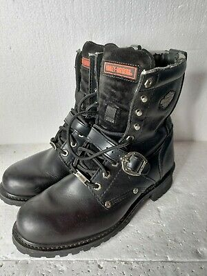 $ CDN78.60 • Buy HARLEY DAVIDSON Men's Black Leather Motorcycle Boots Size 9.5