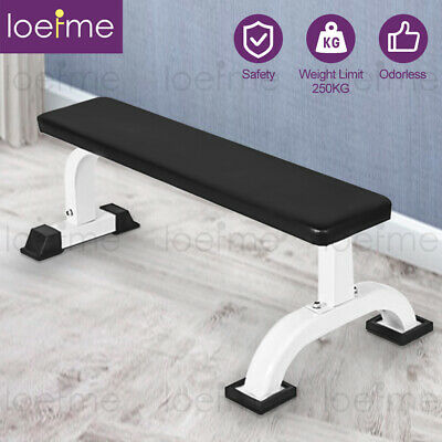£40.99 • Buy Loefme Flat Weight Lifting Bench Body Workout Exercise Benches Home Gym Fitness