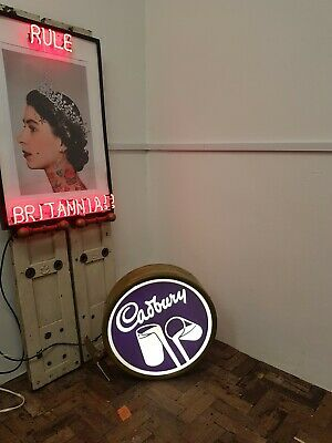 £385 • Buy Cadbury Chocolate Sweets Birmingham Advert Illuminated Light Up Shop Sign Lamp