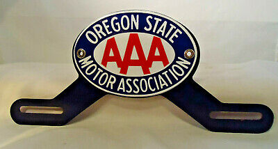 $ CDN60.45 • Buy Aaa Oregon State Motor Association Porcelain License Plate Topper And Frame