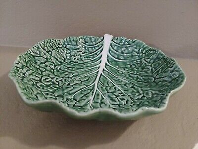 £35.49 • Buy 11  Large Bordallo Pinheiro Cabbage Leaf Salad Bowl Serving Dish Green