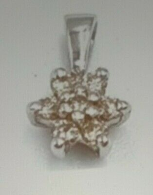 AU84 • Buy GENUINE 9ct White Gold REAL Diamond Pendant WITH COMPLIMENTARY CHAIN