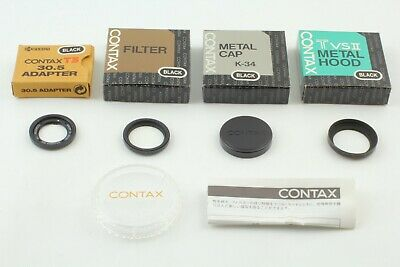 $ CDN485.14 • Buy 【 BOXED TOP MINT BLACK 】 Contax T3 30.5 Adapter Metal Hood P-Filter From JAPAN