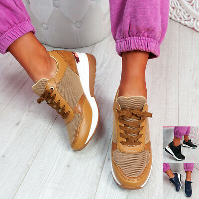$ CDN32.87 • Buy Womens Ladies Wedge Snake Pattern Trainers Sneakers Women Comfy Shoes Size
