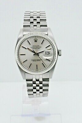 $ CDN5823.12 • Buy Rolex  Datejust 1601 Stainless Steel Case Silver Stick Dial 36 Mm