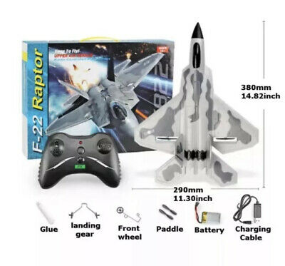 £40 • Buy UK F22 Jet Fighter Remote Control Aircraft RC Model AirPlane 2.4G