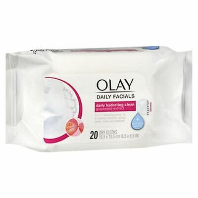 AU19.99 • Buy Olay Daily Facials Daily Hydrating Clean Dry Cloths 20 Each By Olay
