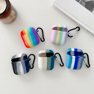 $ CDN4.30 • Buy Rainbow Earphone Silicone Soft Charger Case For Apple Airpods 1st 2nd Cover Hook