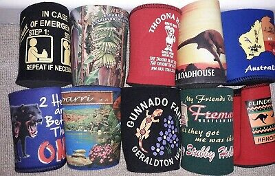 £9.99 • Buy STUBBY HOLDERS  X 10 - BEER CAN - COOLER - GENUINE From Australia - NEW