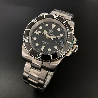 £99.99 • Buy STEELDIVE SD1953 BLACK SUBMARINER 300M Auto Dive Watch *UK SELLER* *FREE STRAP