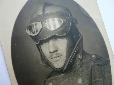£40 • Buy WW1 German Pilot. Dated On The Rear For 1917. Original Photograph