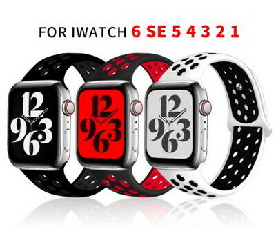 $ CDN8.49 • Buy Wrist Belt Silicone Breathable Band For Apple Watch IWatch Strap SE 6 5 4 3 2