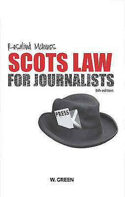 £23 • Buy Scots Law For Journalists By Rosalind McInnes (Paperback, 2010)