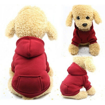 £3 • Buy Winter Pet Puppy Soft Jacket Clothes Dog Hoodie Coat Apparel Jumper Sweater