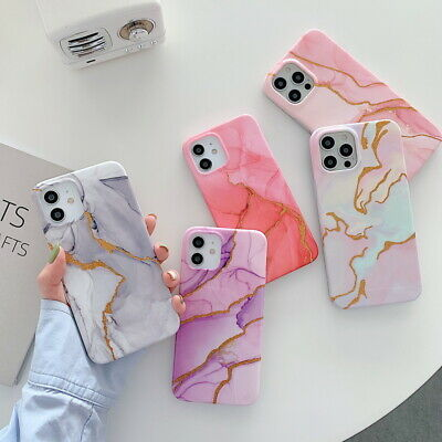 AU5.52 • Buy Shockproof Marble Soft TPU Case Cover For IPhone 12 Mini 11 Pro Max XR XS 8 7 +