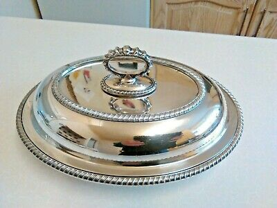 £30 • Buy Antique William Hutton & Sons Oval Silver Plated Entree Dish & Cover (3320)