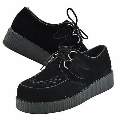 £29.99 • Buy Mens Casual Creepers Shoes Brothel Lace Up Suede Leather Chunky Sole Boots Black