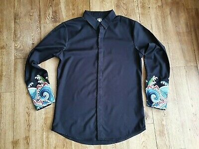 £17.50 • Buy Chinese Elements Men's Long Sleeve Black Shirt Collar Size 17 In