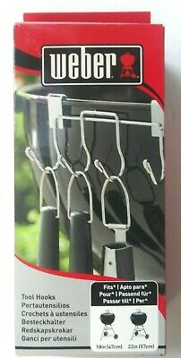 $ CDN18.19 • Buy New Weber Tool Hooks Fits 18  And 22  Charcoal Grills Keeps Grilling Organized
