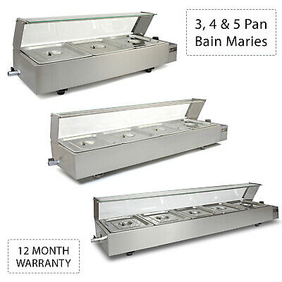 £309.99 • Buy Bain Marie Electric Warmer 3 4 5 Pan Pots Commercial Catering Display Wet Well