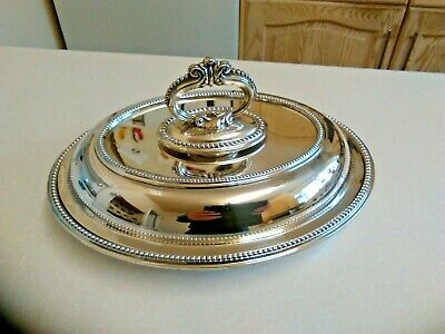 £25 • Buy Antique Walker & Hall Oval Silver Plated Entree Dish & Lid (3324)