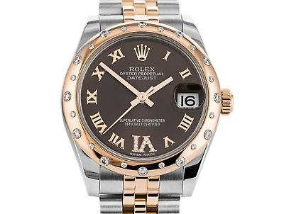 $ CDN19602.65 • Buy Rolex 178341 Datejust 31m. Steel & Everrose Gold Diamonds Box And Papers 2018