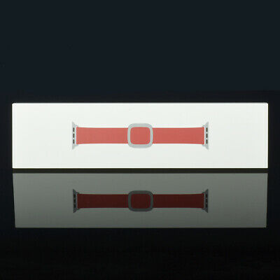 $ CDN84.91 • Buy Apple Watch 38mm 40mm Series 1 2 3 4 5 6 Leather Modern Band - Ruby Red M - L