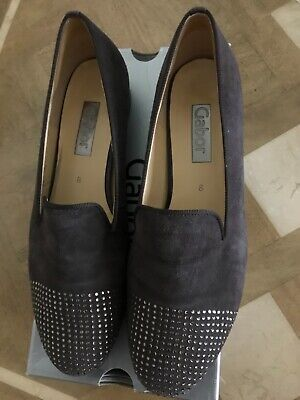 £25 • Buy Gabor Slip On Brown Suede And Diamante Shoes Low Heel Size 8 With Box