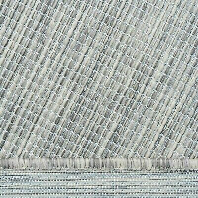 £19.95 • Buy Grey Patio Summer Rug Washable Pet Friendly Non Shed Versatile Outdoor Mat Large