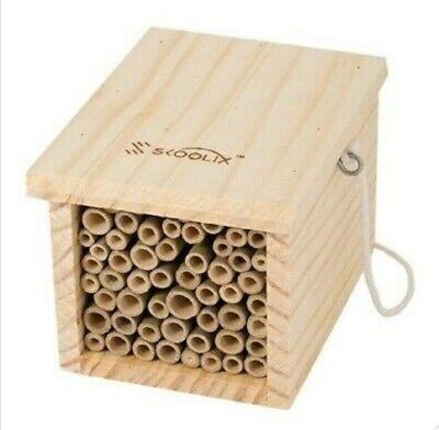 £7 • Buy Wooden Insect Bee House Wood Bug Room Hotel Shelter Outdoor Garden Nesting Box