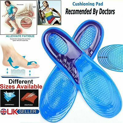 £3.75 • Buy Work Boots Feet Arch Support Orthotic Absorb Shock Gel Massaging Shoe Insoles