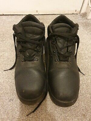 $ CDN13.61 • Buy Black Safety Work Boots 10 Steel Toe Leather Chukka