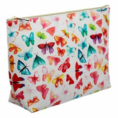 £8.75 • Buy Large PVC Make Up Toiletry Wash Bag - Butterfly House Brand New