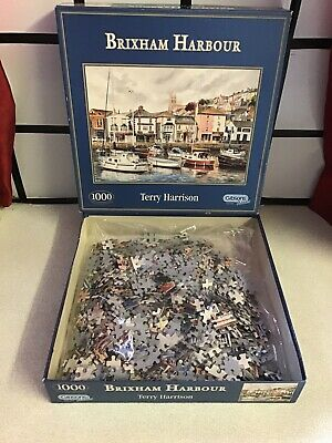 £12.99 • Buy Gibsons Brixham Harbour 1000 Piece Jigsaw Puzzle Terry Harrison Complete